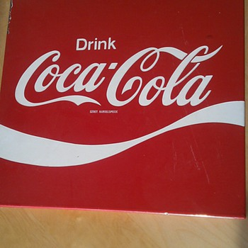 Coca Cola sign enamel  39 x 39 cm (15 x 15 inch), found it in Holland late 70`s - Signs