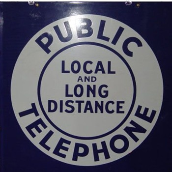 "Local and Long Distance Public Telephone 11x11"" - Telephones"