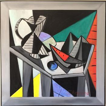 Mid Century Modern Painting - Visual Art