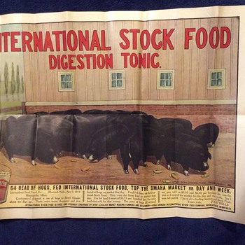 1912 International Stock Food Company Poster - Posters and Prints