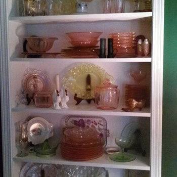 Depression glass, etc.