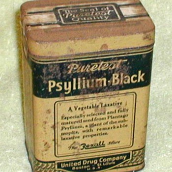 Rexall Puretest Psyllium-Black Laxative Tin