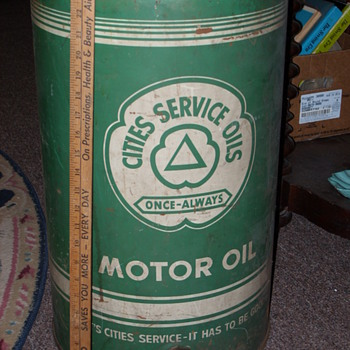 Cities Oil Service Oil Can - Advertising