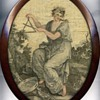 Women's Art: Antique sewing implements and tapestries, 1600s and on