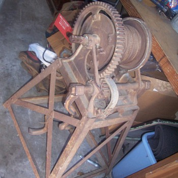 Antique Winch with Stand  - Tools and Hardware