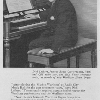 1950 Wurlitzer Organ Advertisement - Advertising