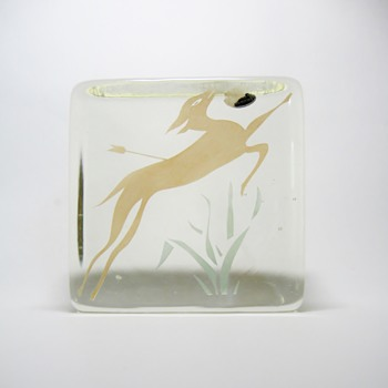 ART DECO OR MID CENTURY MODERN GLASS BLOCK