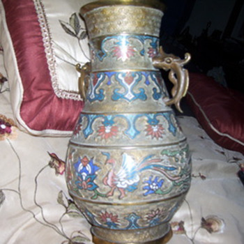 asian vase /champleve - Asian