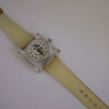Square Lucite Mickey - Wristwatches