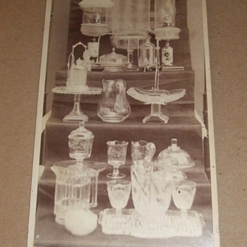 Cabinet card of Photographer's Wife's Glass Collection - Glassware
