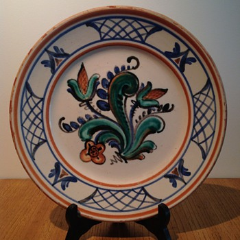 DANISH FAIENCE PLATE MYSTERY - Art Pottery