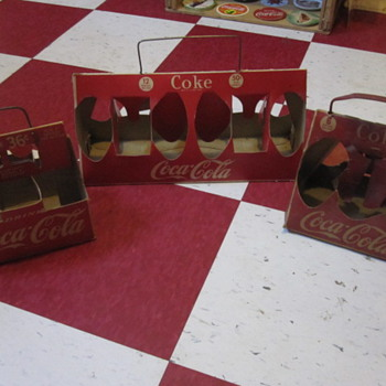 1950's Cardboard Coca-Cola Carriers