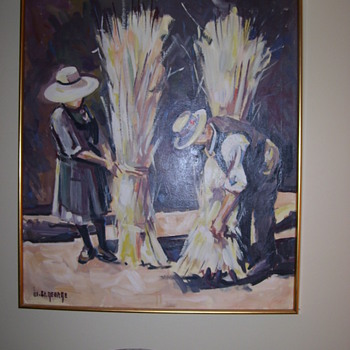 WILLIS ST. GEORGE OIL PAINTING (1914-1965) - Arts and Crafts