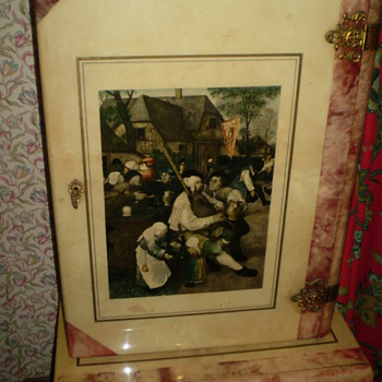 Cabinet withPeasants Dance by Pieter Bruegel. - Furniture