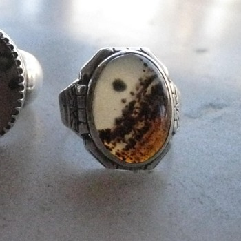 Montana agate men's rings - part 2 - and tie clip - Fine Jewelry
