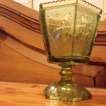 depression glass stem dish - Glassware