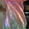 Beautiful Swirling Pink and Green Vase