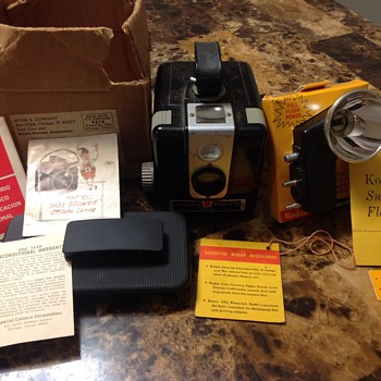 My Mom's Brownie Hawkeye Flash Model Camera - Cameras