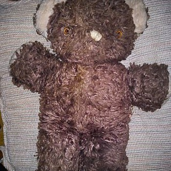 My Mother&#039;s Childhood Bear w/tag marked &quot;Ideal&quot; - Dolls