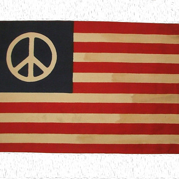 Original Hippie Peace Flag from Kent State 1970 - Military and Wartime