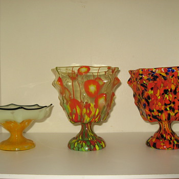Some knuckle vases - Art Glass