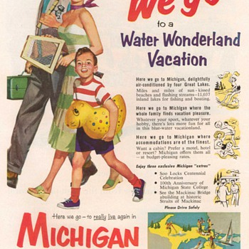 1955 - Michigan State Travel Advertisement - Advertising