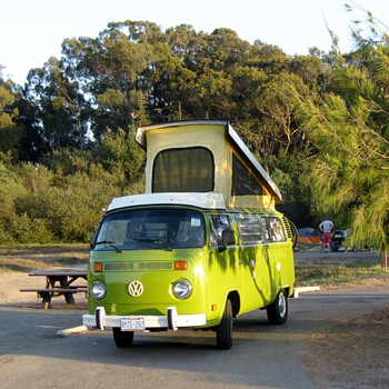 Phylis the 1979 Westfalia goes camping at Pismo Beach. CA - Classic Cars