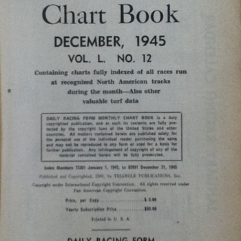 Book of racing forms for December, 1945