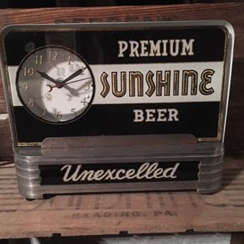 Premium Sunshine Beer Clock