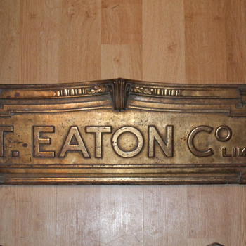 The T. Eaton co limited sign - Signs