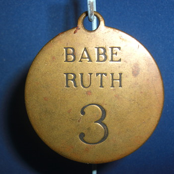 Rare Babe Ruth Yankee Stadium Locker Tag Circa 1930