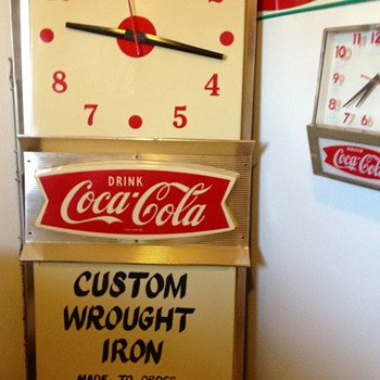 Price Brothers fishtail clock - Coca-Cola