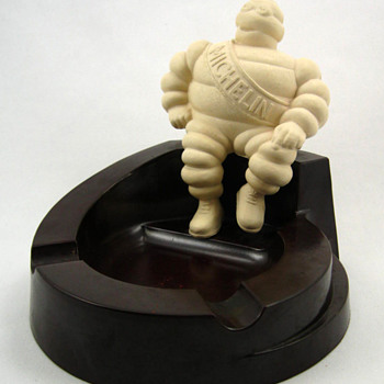 Michelin Man Bibendum Bakelite Ashtray