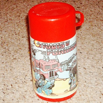 1984 Transformers Thermos