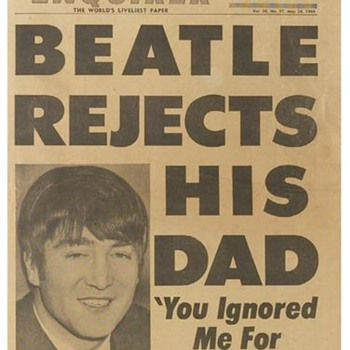 National Enquirer-John Lennon cover- 1964 - Music