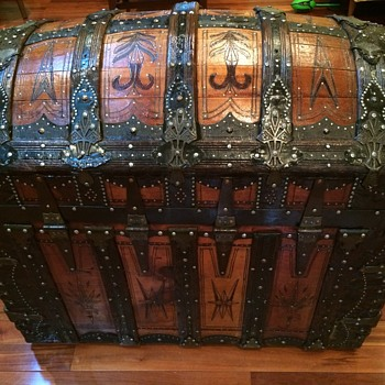 Saratoga Trunk ( Abe Foot manufacturer) 1890s ( refinished)