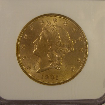 Misc $20 U.S. Gold Liberty Double Eagle 1901, 05, &amp; 06 - US Coins