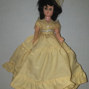 "Plastic ""Dress Me"" Doll in Yellow Dress"