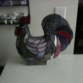 DALE TIFFANY STAINED GLASS ROOSTER LAMP
