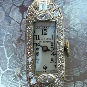 Platinum & Gold Lucien Picard Diamond Watch - Fine Jewelry