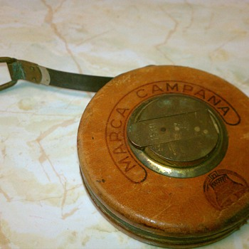 Marca Campana Bronze &amp; Leather Steel Measure 15METERS  - Tools and Hardware