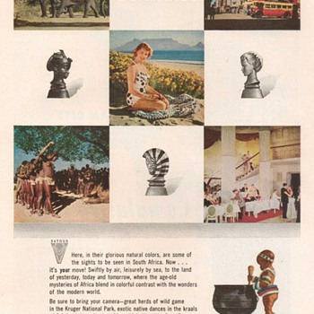 1955 - South Africa Travel Advertisement - Advertising