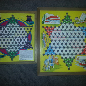 2 vintage chinese checkers