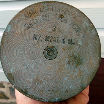 WWII 1944 105mm M14 Shell Casing  - Military and Wartime