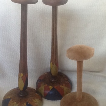 Vintage hat stands  - Hats