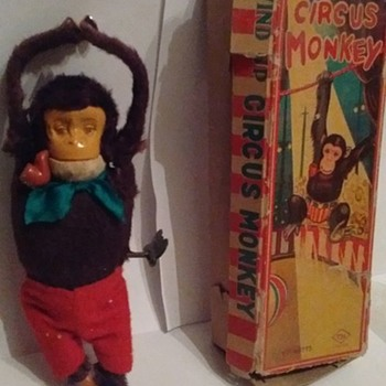 """Japan"" Windup Circus Monkey"