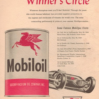 1950 - Mobil Oil Advertisement - Advertising