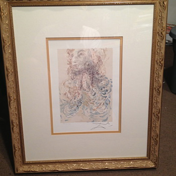 "Salvador Dali ""The Wrathful"" Color Lithograph"