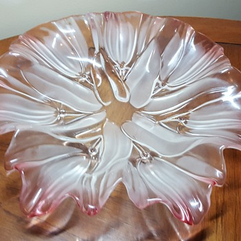 Pink/Clear Bowl - Art Glass