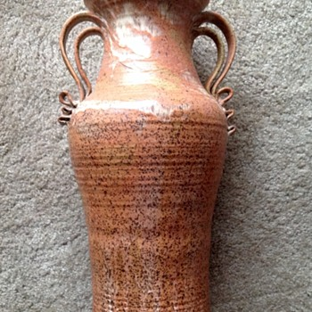 Stoneware floor vase - Art Pottery